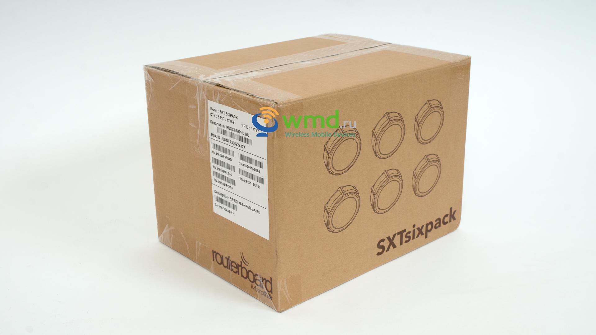 ������������ ����� ������� Mikrotik SXT Sixpack